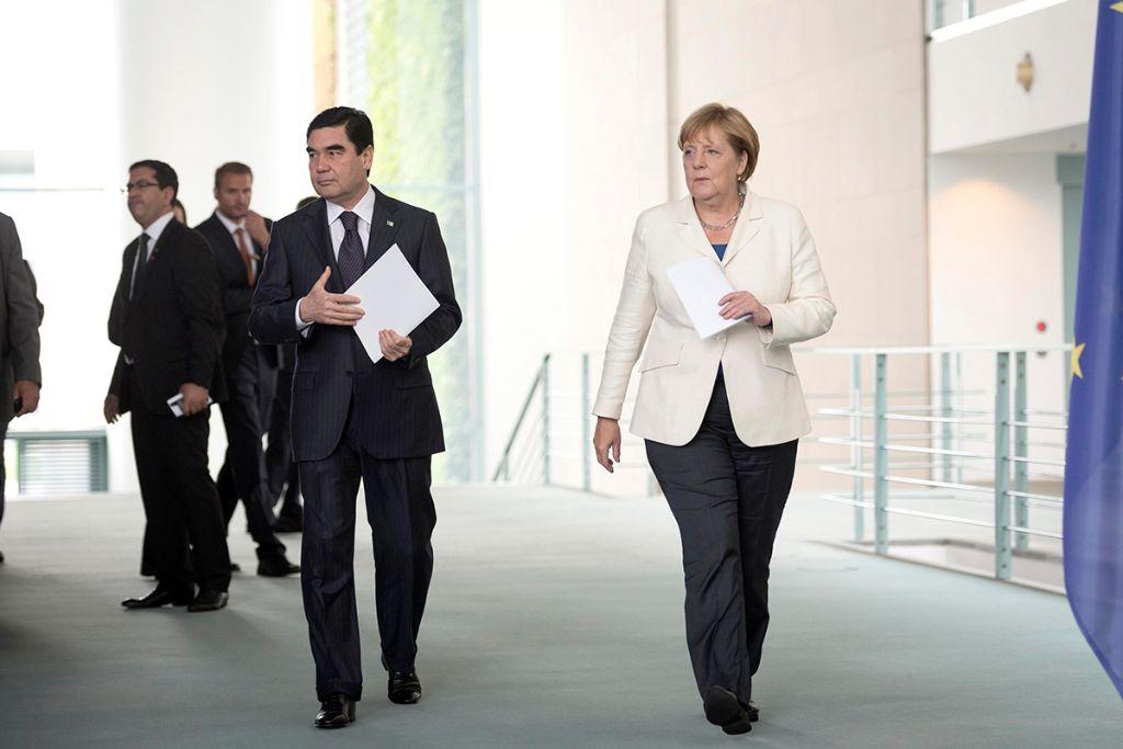 Turkmenischer Staatspräsident Gurbanguly Berdymuchammedow in Berlin 2016